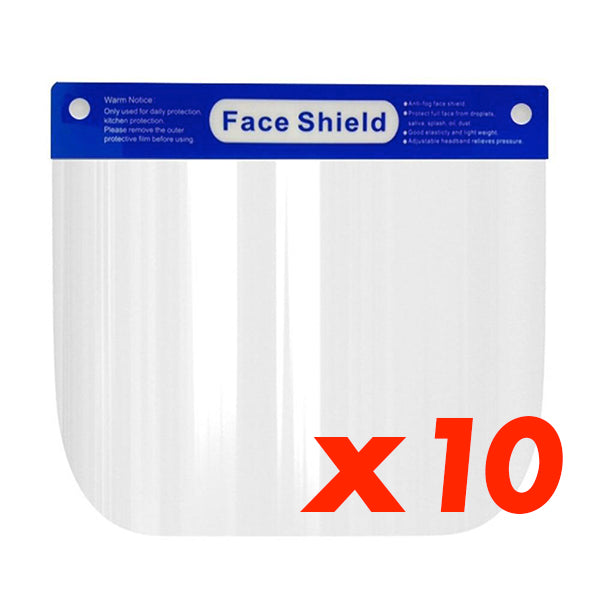 Set of 10 Face Shield