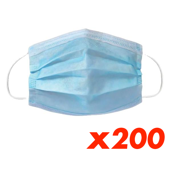 200 Disposable Masks set