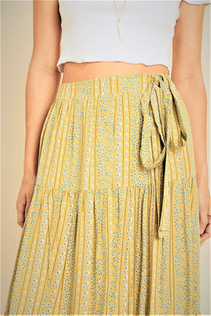 Tiered Ankle Grazer Skirt