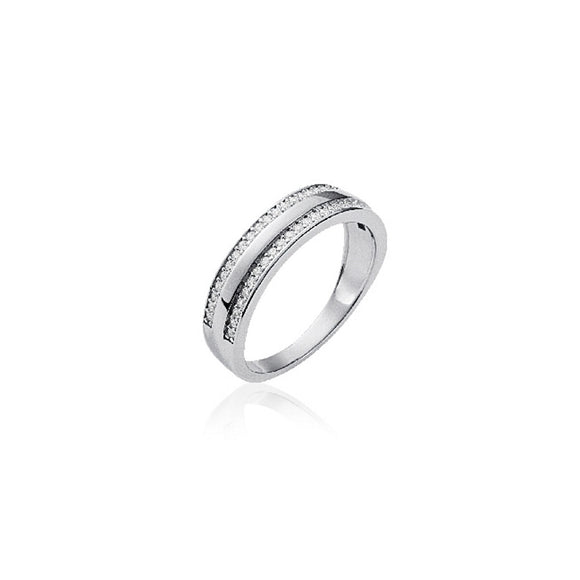 Bague | Demi-Alliance oxyde de zirconium large