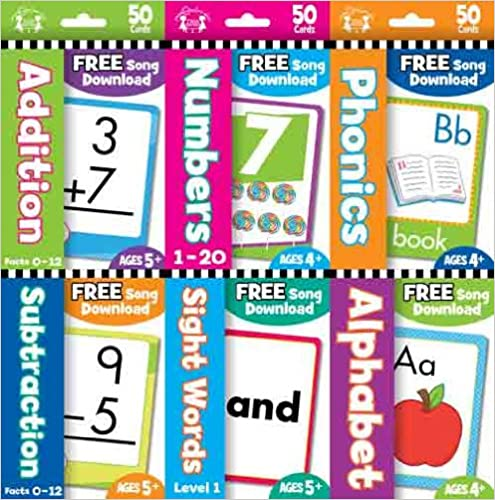 TWIN SISTERS - 6 PACK EDUCATIONAL FLASH CARDS