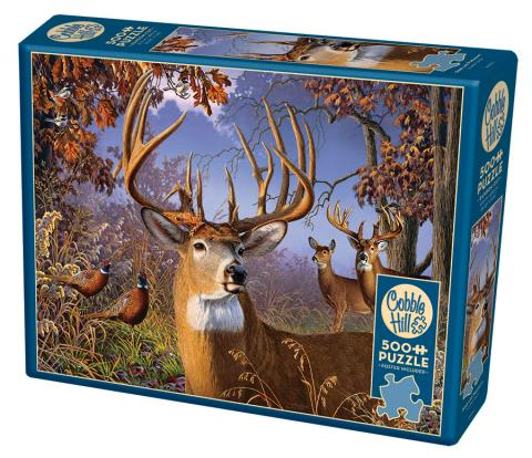 COBBLE HILL PUZZLE - DEER AND PHEASANT - 500 PC