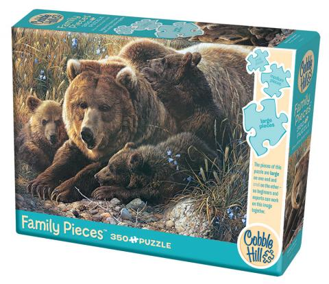 COBBLE HILL PUZZLE - GRIZZLY FAMILY - 350 PC