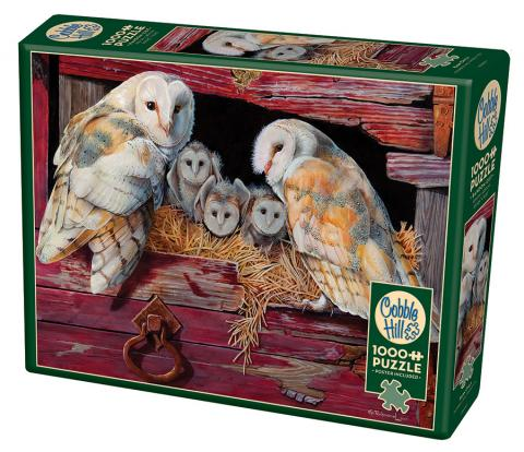 COBBLE HILL PUZZLE - BARN OWLS
