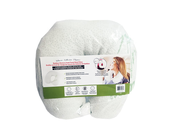 BAMBOO MEMORY FOAM TRAVEL NECK PILLOW