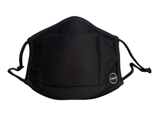 Adult sippyMASK Sport (Black) w/ Adjustable Ear Loops