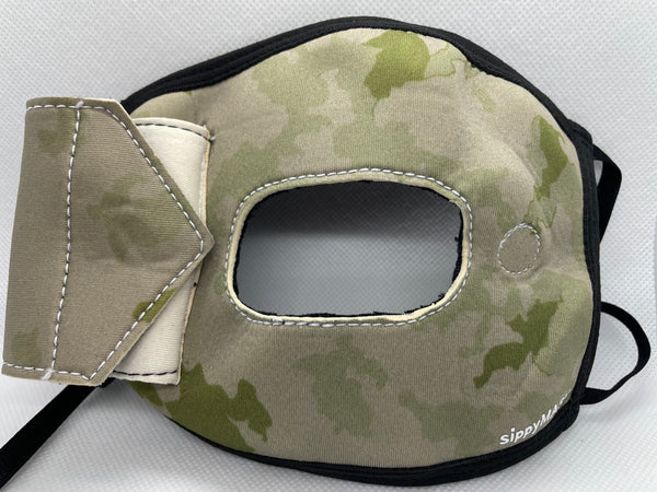 Adult sippyMASK (Camo) w/ Adjustable Ear Loops