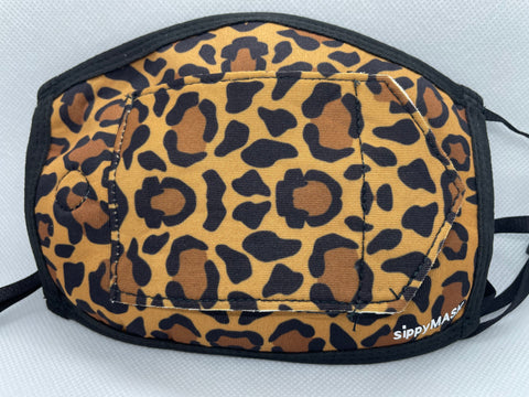 Adult sippyMASK (Leopard) w/ Adjustable Ear Loops