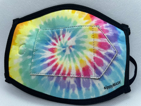 Adult sippyMASK (Tie Dye) w/ Adjustable Ear Loops
