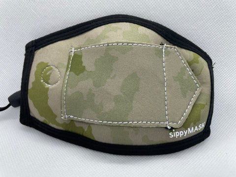 Child sippyMASK (Camo) w/ Adjustable Ear Loops