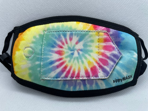 Child sippyMASK (Tie Dye) w/ Adjustable Ear Loops