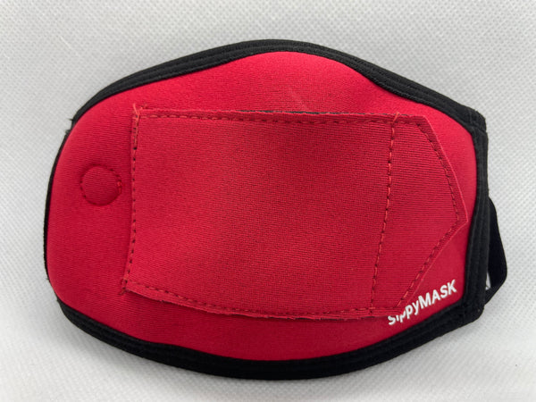 Child sippyMASK (Red) w/ Adjustable Ear Loops