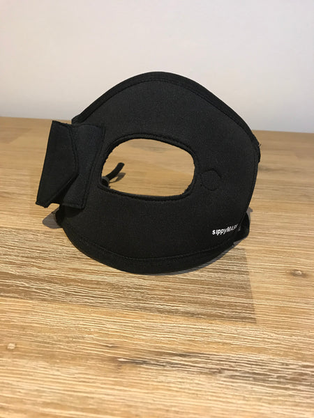 Adult sippyMASK (MADDS Black) w/ Adjustable Ear Loops
