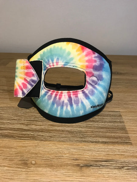 Adult sippyMASK (MADDS Tie Dye) w/ Adjustable Ear Loops