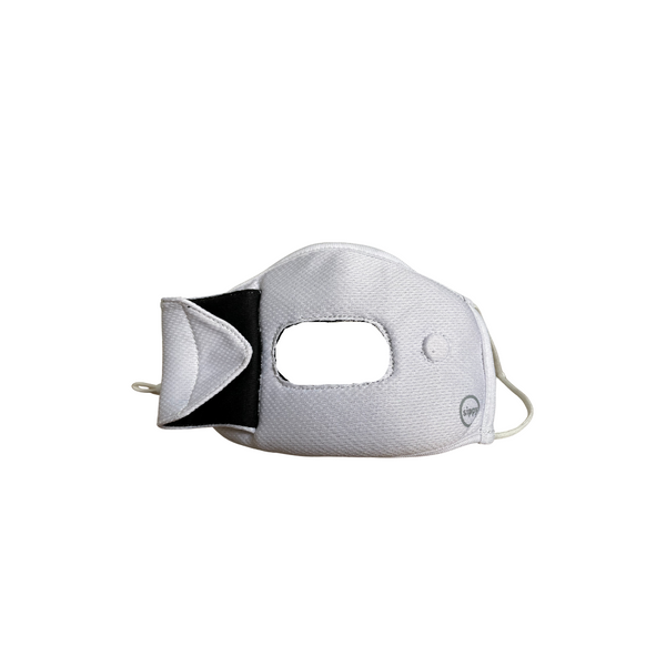 Adult sippyMASK Sport (White) w/ Adjustable Ear Loops