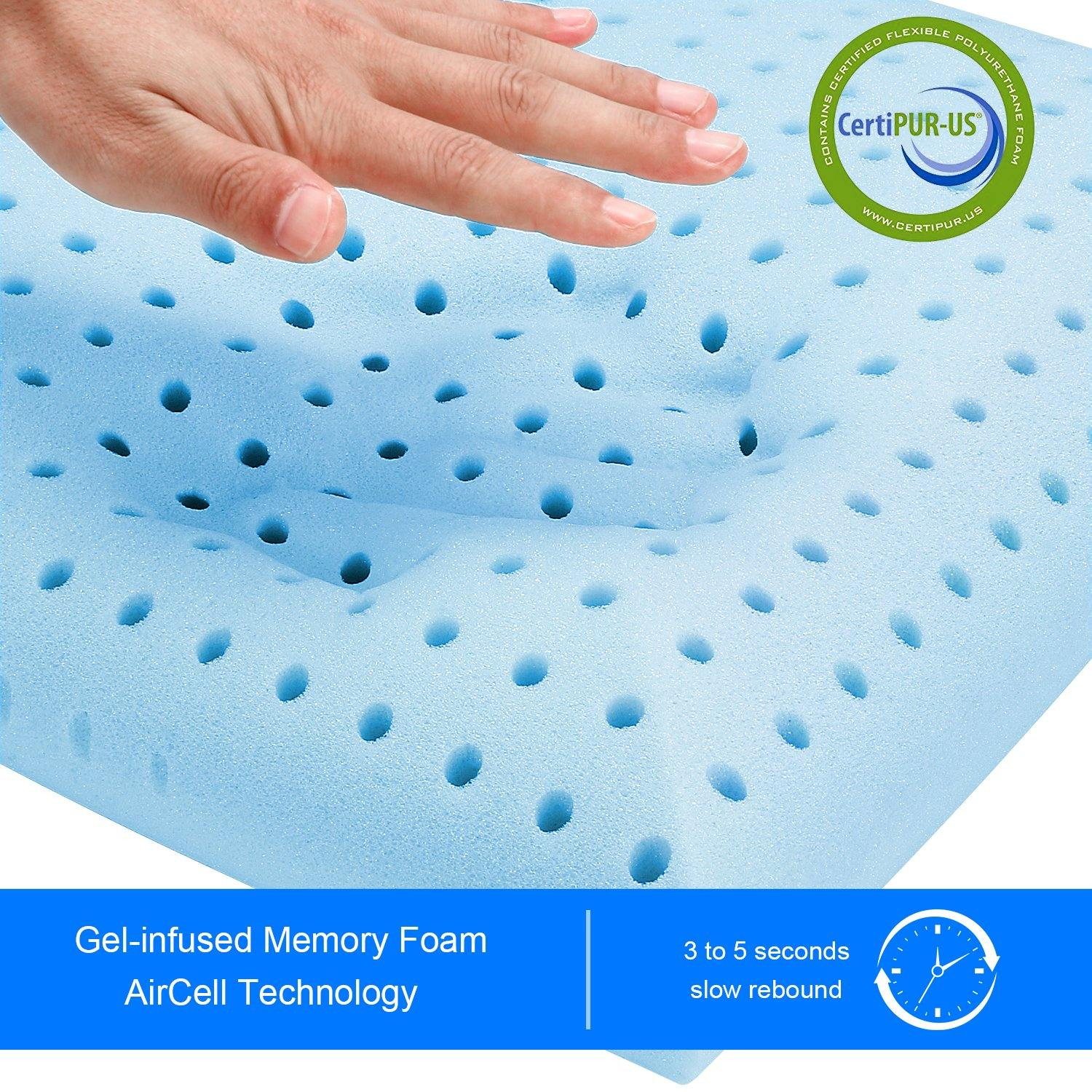 Milemont Ventilated Gel Memory Foam Pillow, Bed Pillows for Sleeping, CertiPUR-US