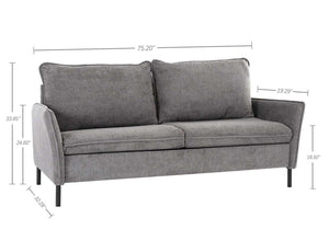 Milemont Sofa Bed, Loveseat Couch, Small Spaces Upholstered Daybed, Modern Tufted Fabric for Living Room,,Grey