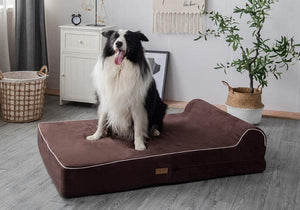 Milemont Pet Bed, Jumbo XL, Orthopedic 7-inch Thick, High-Grade Memory Foam, Dog Bed With Pillow, Removable Cover with Anti-Slip Bottom, Waterproof Liner, X-Large