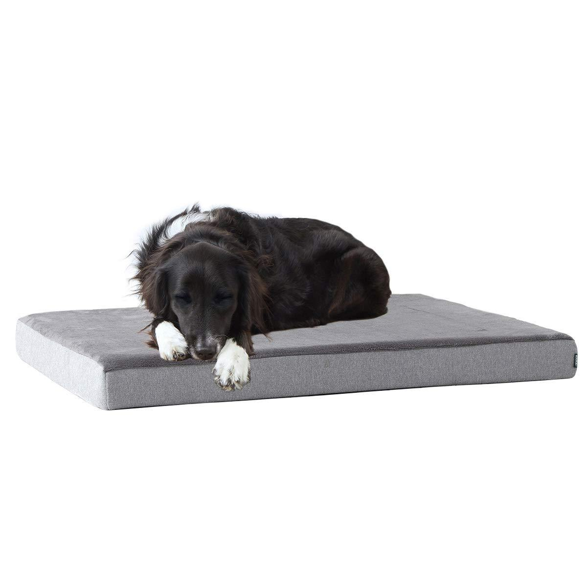 Milemont Memory Foam, Platform Dog Bed, Plush Mattress, Orthopedic Joint Relief, Cuddler with Removable Cover and Water-Resistant Lining
