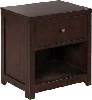 Milemont Light Solid Wood Nightstands, Mid Century Modern Retro Compact, with Storage Drawer, Nightstands Table, for Bedroom Dorm