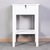 Milemont Floor-standing Bedside Table, Bedroom Bathroom Table, MDF Wood Storage File Cabinet with 1 Drawer, Living Room File Cabinet with 1 Open Bottom Shelf, Small Furniture for Indoor Home Use, White