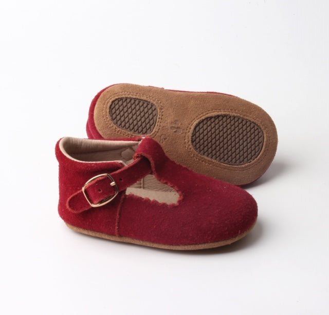 Riley T-Straps - Burgundy