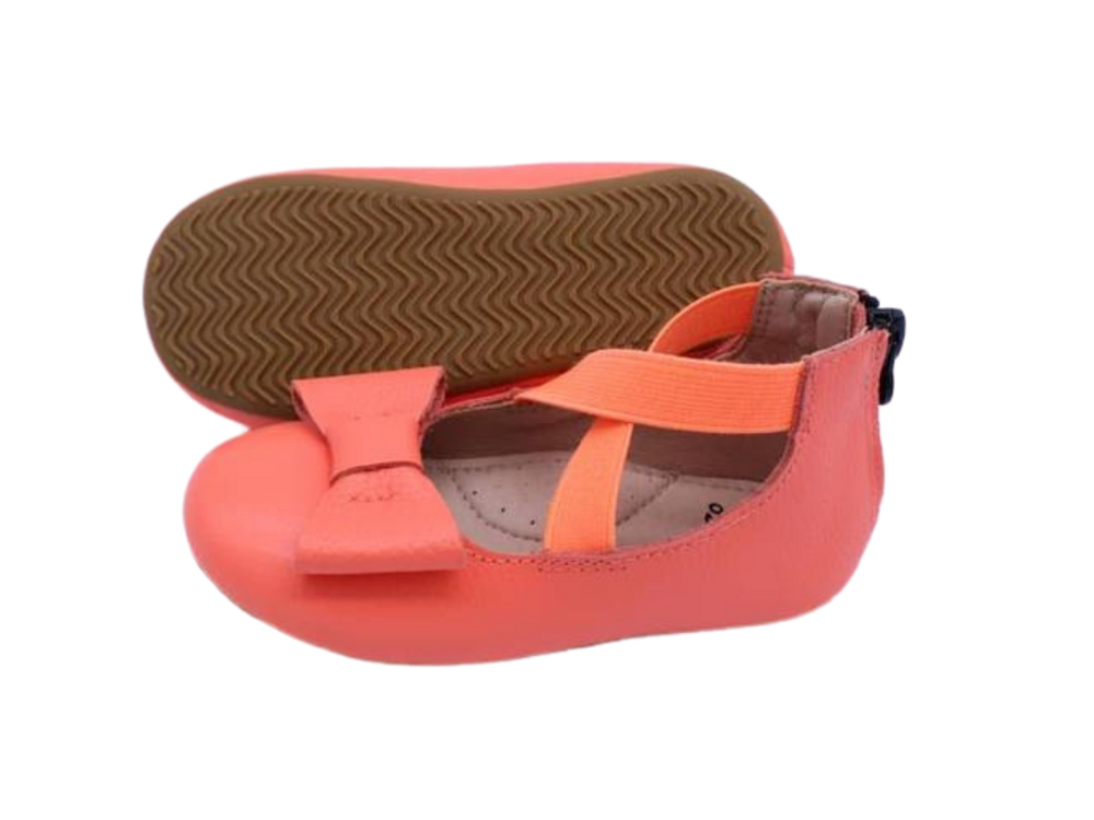 Load image into Gallery viewer, Eyleen Bow Ballet Flats - Coral