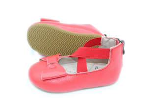 Load image into Gallery viewer, Eyleen Bow Ballet Flats - Red - rileycoshoes.com
