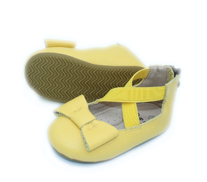 Load image into Gallery viewer, Eyleen Bow Ballet Flats - Yellow - rileycoshoes.com