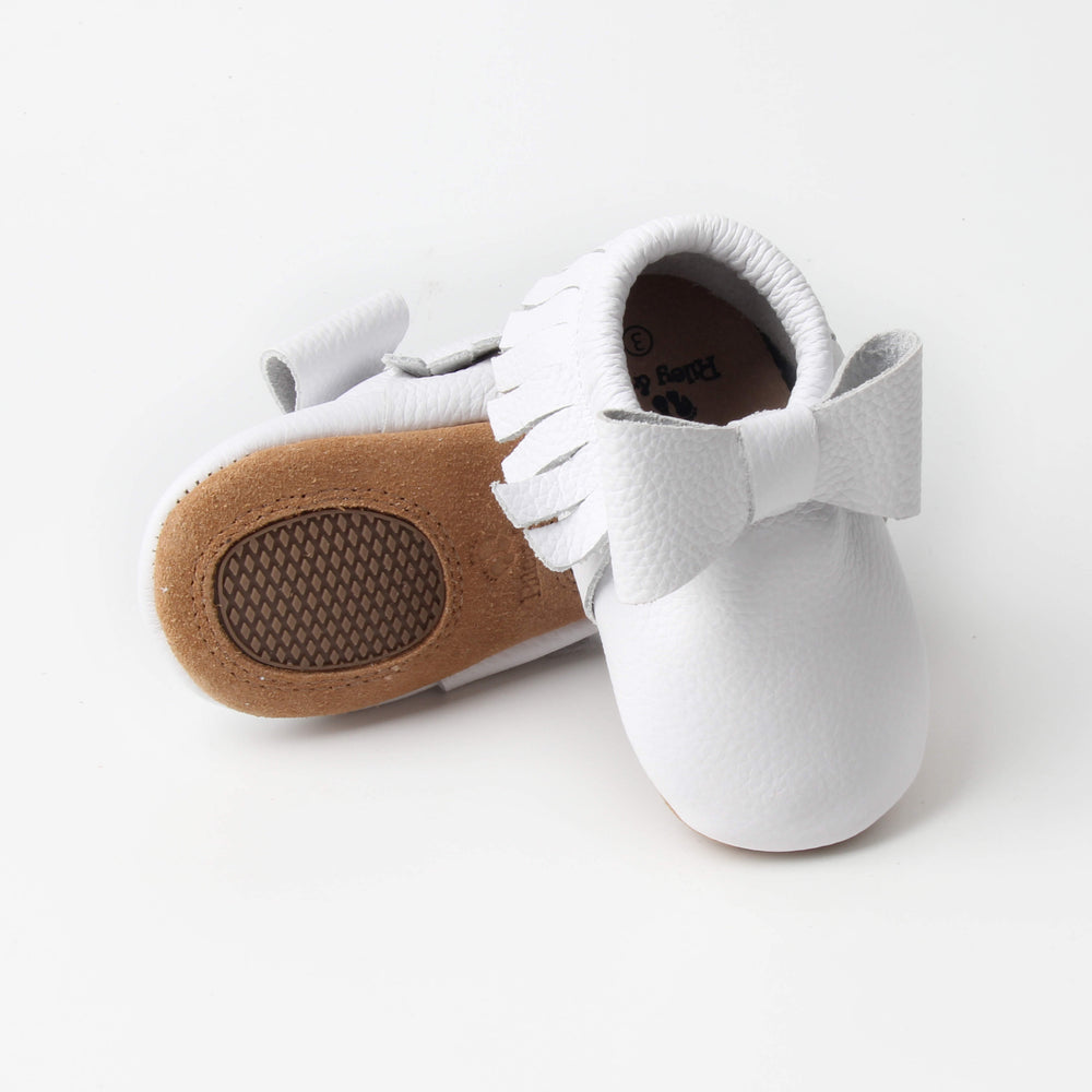Bow Moccasins - White