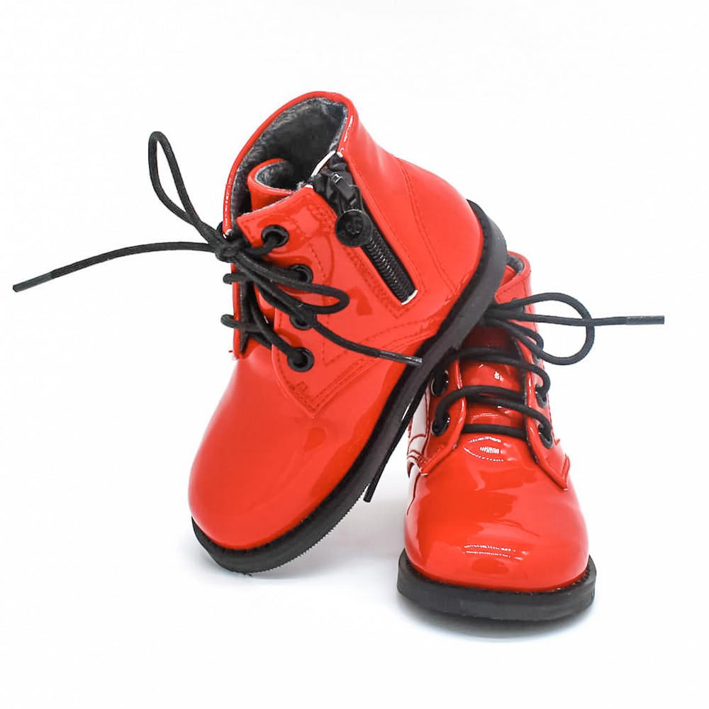Bliss Boots - Red Patent