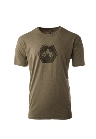 pnuma outdoors camo hex tshirt - front view