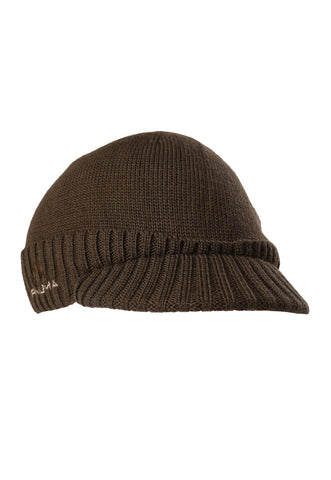 pnuma outdoors marino wool visor beanie - front 3/4 view