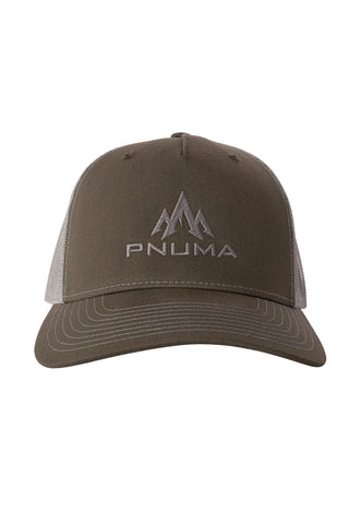 pnuma outdoors 5 panel trucker cap - front view