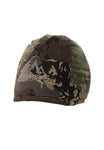 pnuma outdoors recon reversible beanie - front view - caza camo color