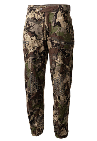 pnuma outdoors selkirk pant - front view - caza camo color