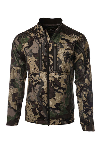 pnuma outdoors tenacity jacket - front view - caza camo color
