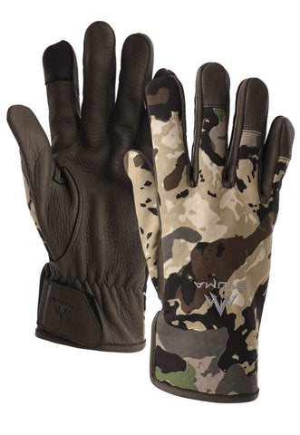 pnuma outdoors - waypoint glove - front view - caza camo color