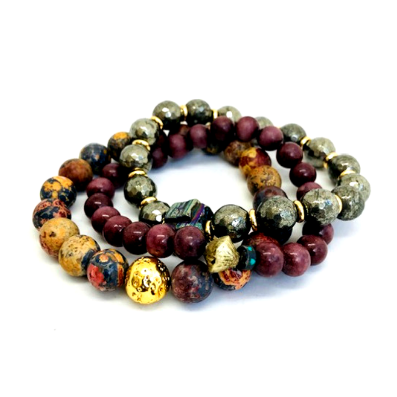 JR Crossover Three-Layer Bracelet Set