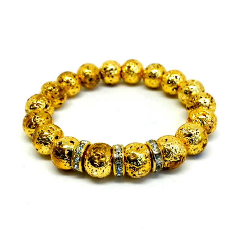 Nix Gold Lava Bracelet with CZ Micro Paved Rounds