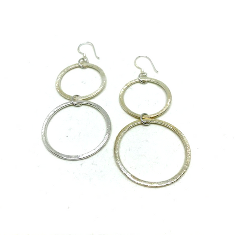 Cable Loop Earrings with Sterling Silver