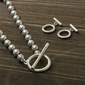 UnoDe50 Silver Ball Necklace