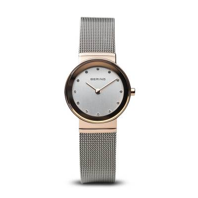 Bering Quartz Rose and Stainless Steel Bracelet Watch