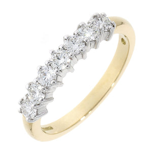 18ct Yellow and White Gold Diamond Eternity Ring
