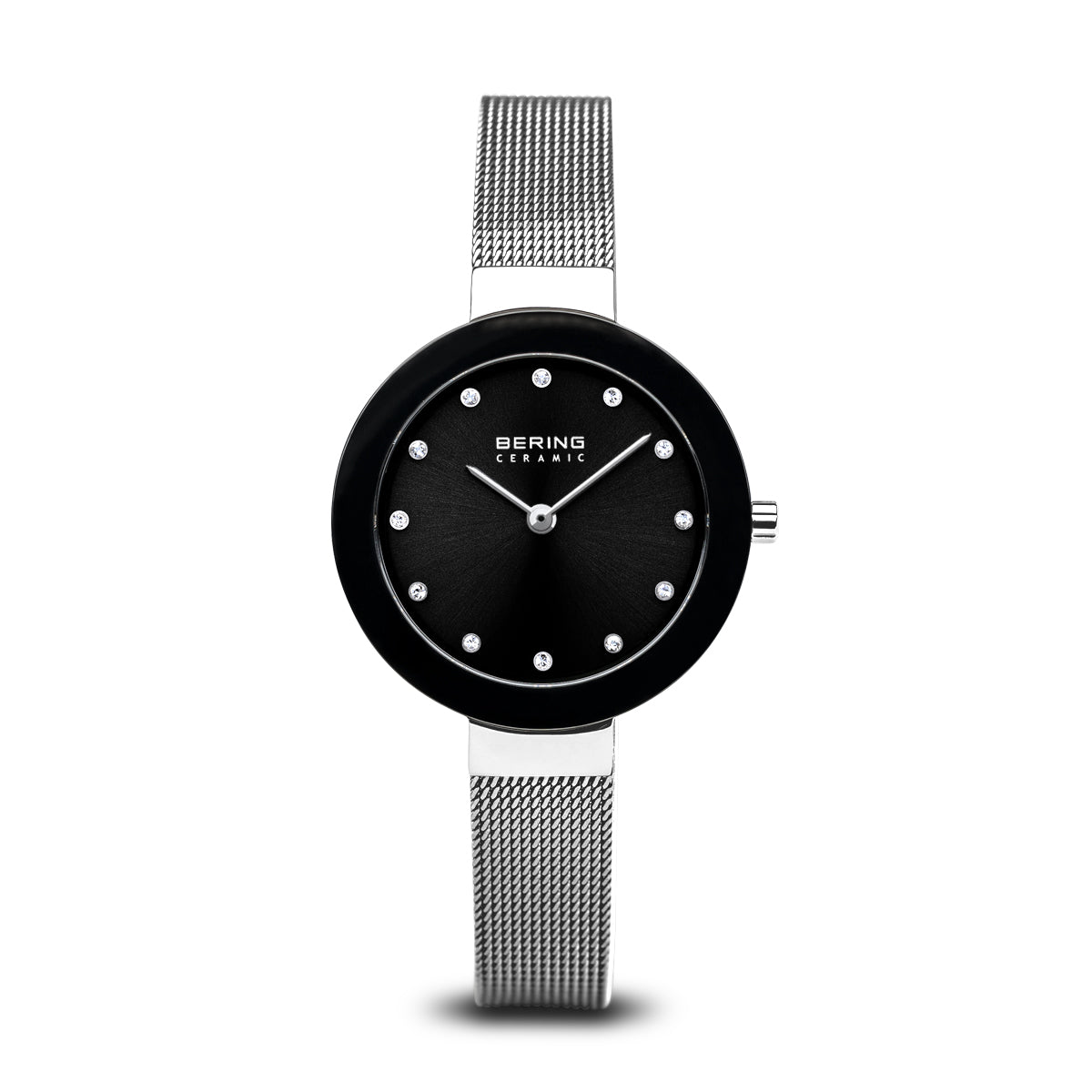Bering Quartz Black and Stainless Steel Bracelet Watch