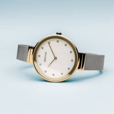 Bering Quartz Gold Plated and Stainless Steel Bracelet Watch