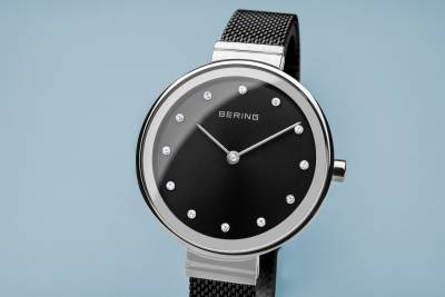 Bering Black and Stainless Steel Quartz Bracelet Watch