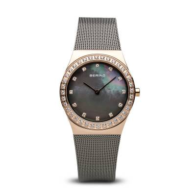 Bering Stainless Steel and Rose Gold Plated Quartz Bracelet Watch