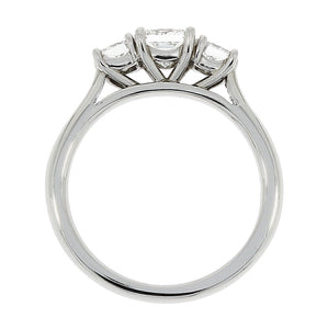 Platinum Princess Cut Diamond Trinity Ring