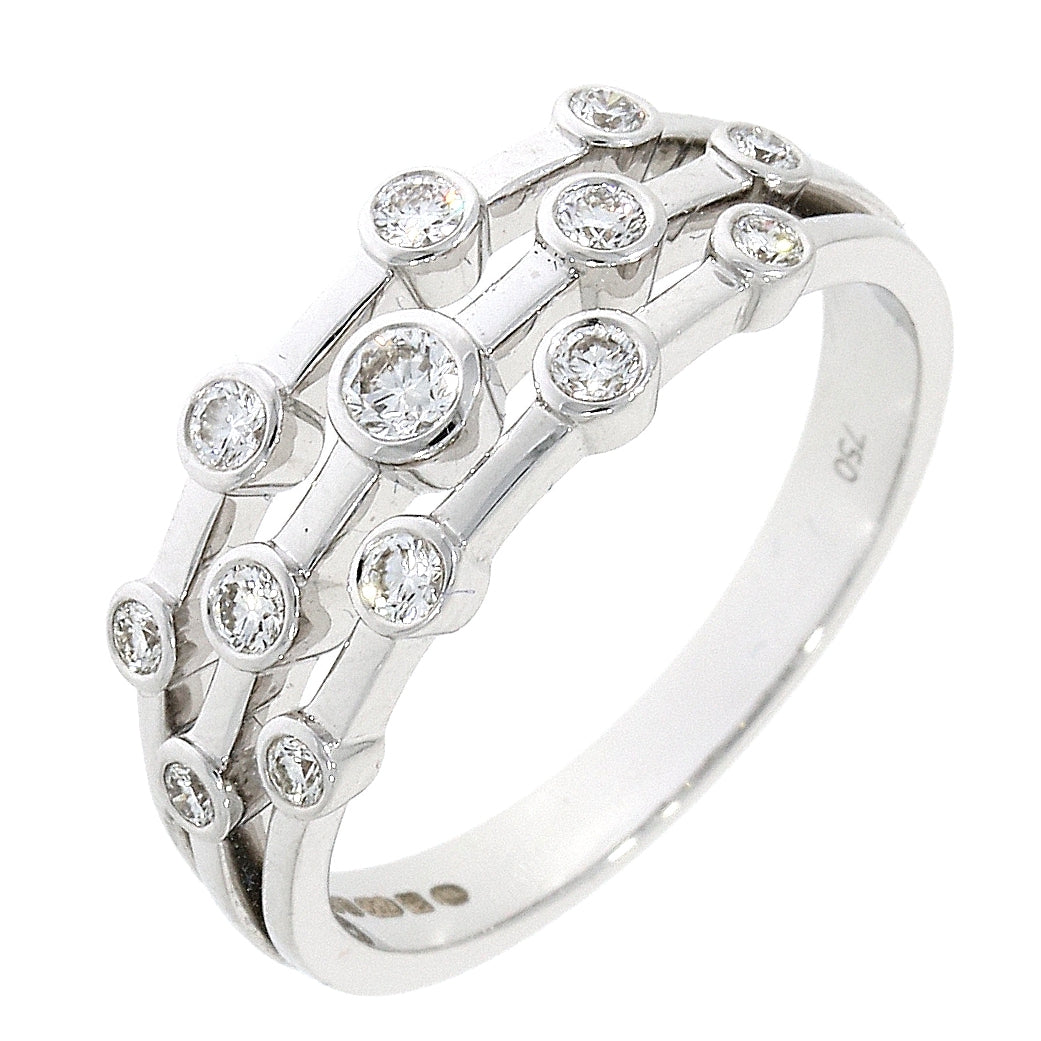 18ct White Gold Diamond Bubble Eternity Ring
